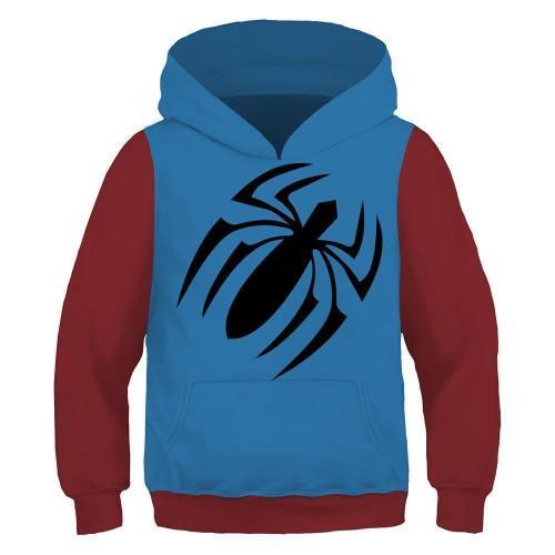 Kids Spider-Verse Scarlet Spider Hoodie Pullover Sweatshirt