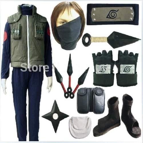 Naruto Hatake Kakashi cosplay costume full set Halloween costume