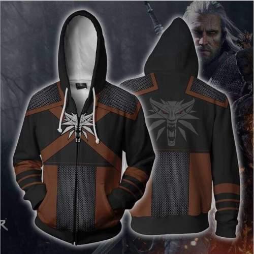 The Witcher 3 Hoodie - Wild Hunt Zip Up Hoodie