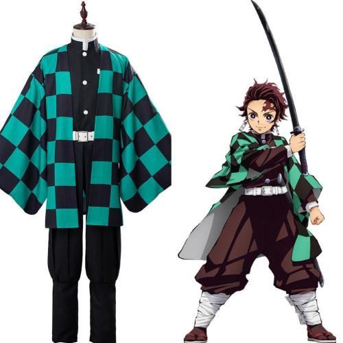 Demon Slayer Kamado Tanjirou Cosplay Costume Anime Costumes