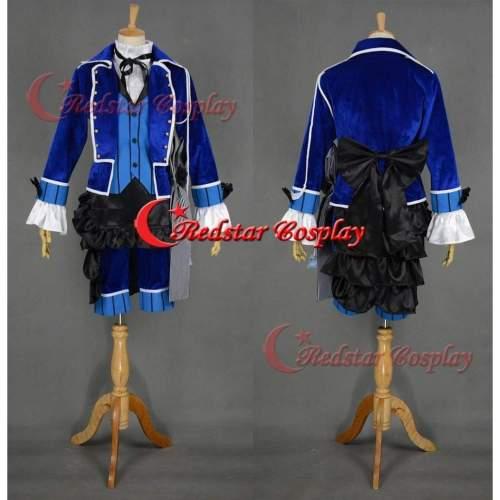 Ciel Phantomhive Cosplay Costume (Blue) From Kuroshitsuji Black Butler Cosplay Custom In Any Size