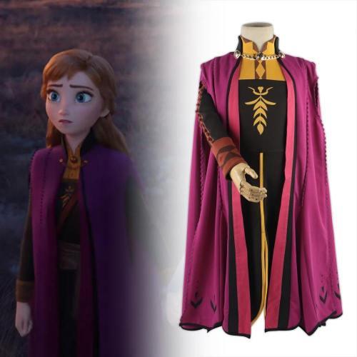 Frozen 2 Snow Queen Anna Elsa Princess Cosplay Costume Outfit Full Set Halloween Costumes Fancy Dress Children New