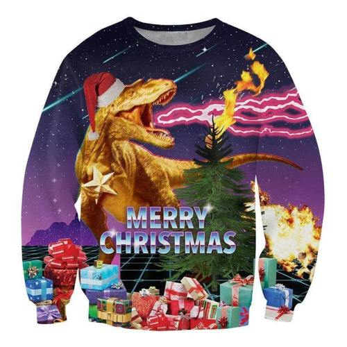 Merry Christmas Shirt Ugly Xmas Dragon Sweatshirt