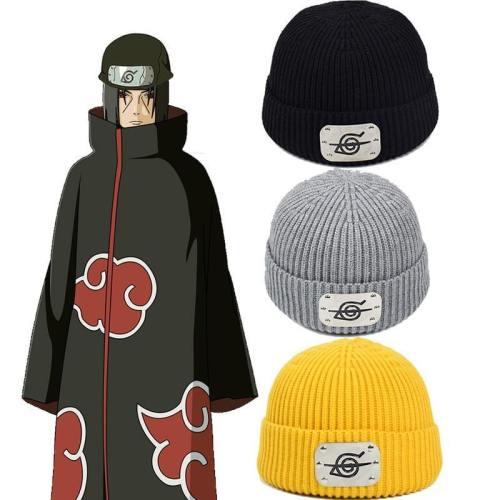 Anime Naruto Akatsuki Uchiha Itachi Hat Cosplay Hip Hop Beanie Cap