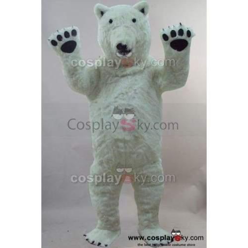 Polar Bear Mascot Costume Fancy Dress Outfit