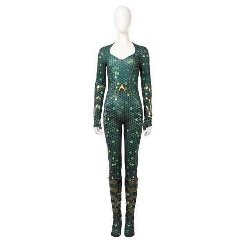 Dc Aquaman Mera Costume Cosplay Jumpsuit Halloween Party Women Suit