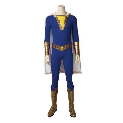 Shazam Costume Freddy Freeman Jumpsuit Blue