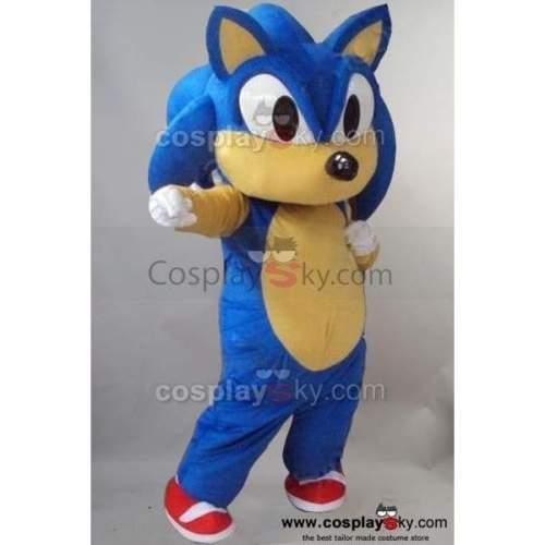 Sonic Hedgehog Mascot Costume Fancy Dress Outfit