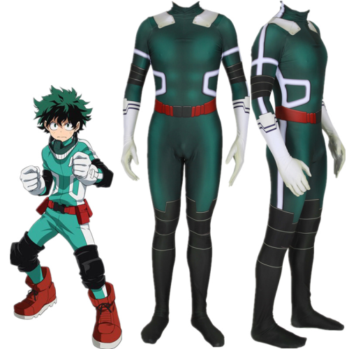 Men Boys My/No Hero Academia Deku Boku Midoriya Izuku Cosplay Jumpsuit