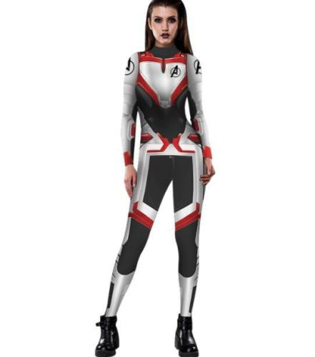 Avengers 4 Endgame Black Widow Women Zentai Bodysuit Cosplay Costume