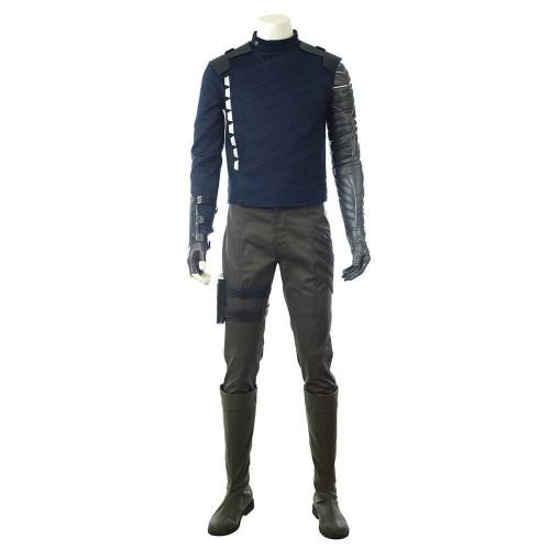 Avengers Infinity War Winter Soldier Costume Halloween Cosplay Suit