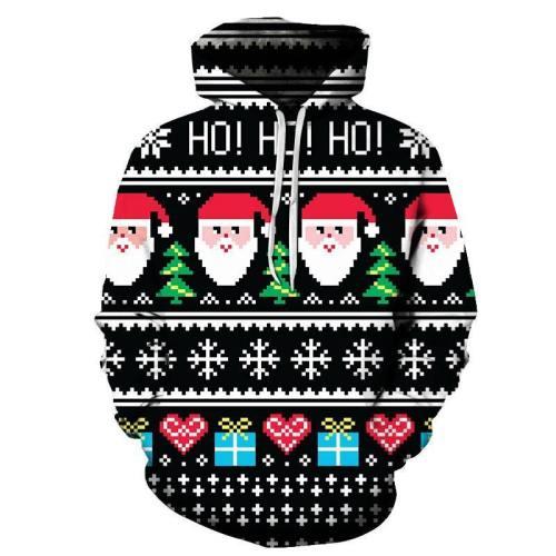 Ho Ho Ho Christmas Hoodie - Sweatshirt, Hoodie, Pullover