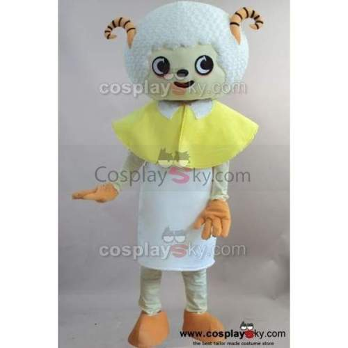 Cartoon Sheep Mascot Cosplay Costume Adult Size