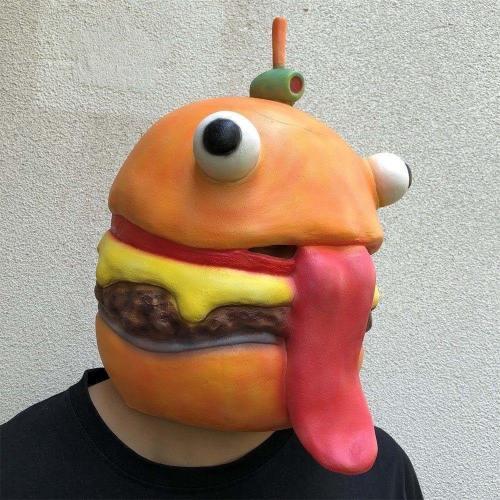 Fortnite Durr Burger Hamburger Mask Halloween Cosplay Props