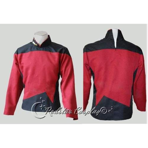 Star Trek TNG The Next Generation Red Shirt Uniform Cosplay Costume  - Custom made in any size