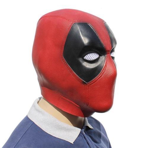 Deadpool Captain America Latex Full Head Helmet Party Costume Props