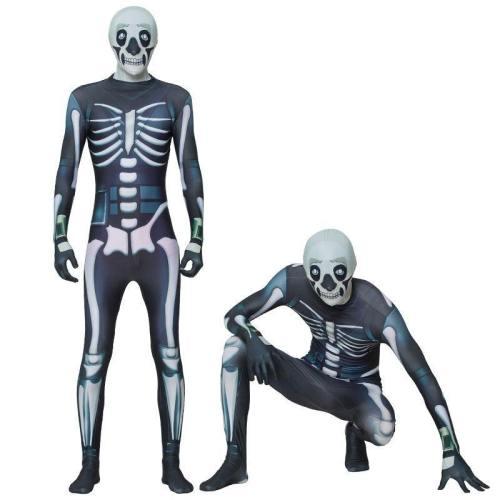 Fortnite Skull Trooper Jumpsuit Costume For Men