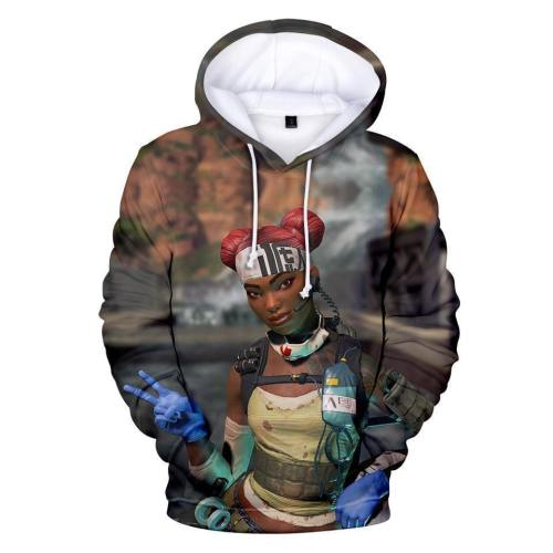 Fashion Casual Realistic 3D Print Hoodie Pullover