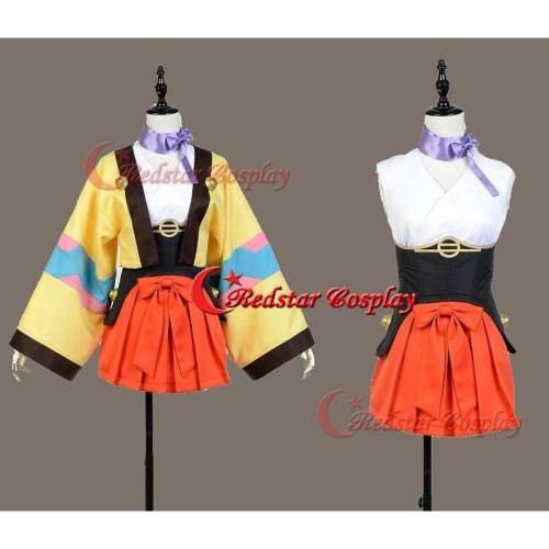 Kabaneri Of The Iron Fortress Mumei Cosplay Costume Kimono Plain Clothes Dress