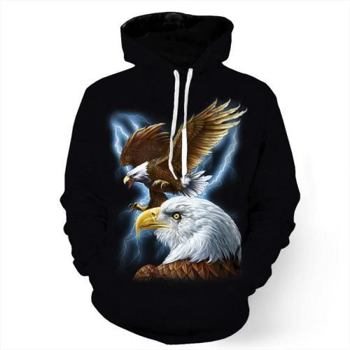 Majestic Eagle And Lightning Sweatshirt/Hoodie