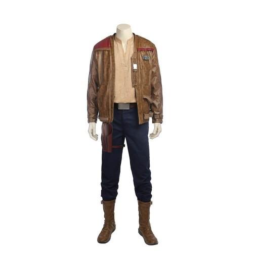 Star Wars 8 : The Last Jedi Finn Costume Halloween Cosplay Costume Adult Men