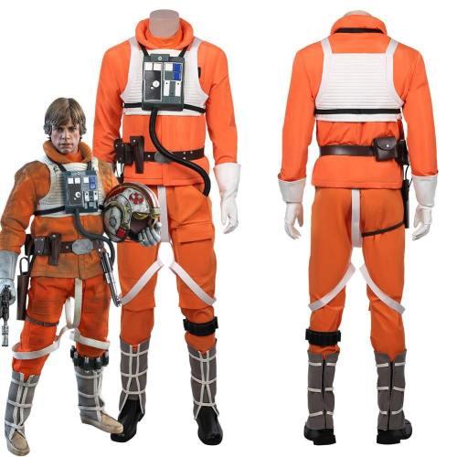 Star Wars-Luke Skywalker Pilot Jumpsuit Uniform Outfits Halloween Carnival Suit Cosplay Costume