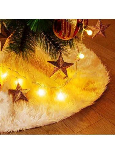 Christmas Decoration Furry White Tree Skirt Tree Blanket
