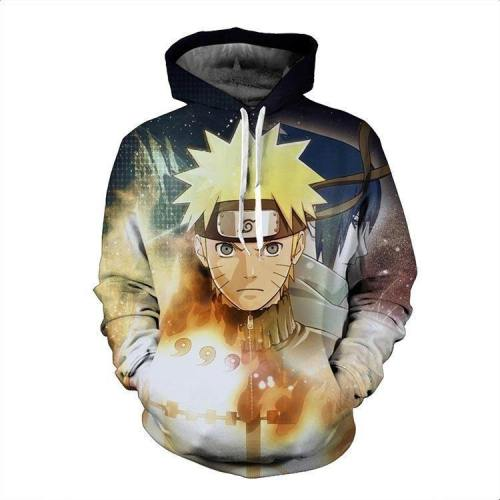 Naruto Hoodie - Naruto Shippuden Pullover Hoodie Csos102