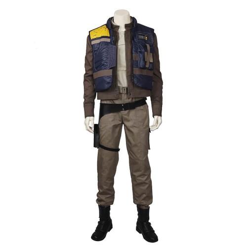 Star Wars Captain Cassian Andor Suit Halloween Party Men Cosplay Costume