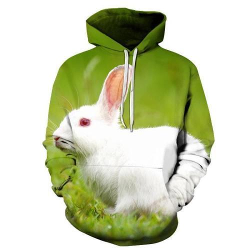 Cute Rabbit 3D - Sweatshirt, Hoodie, Pullover