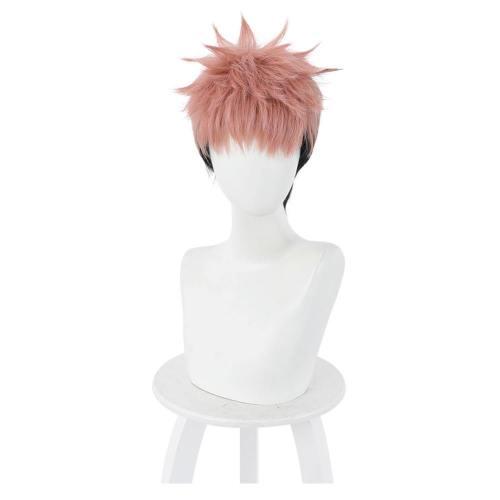 Jujutsu Kaisen Yuuji Itadori Heat Resistant Synthetic Hair Carnival Halloween Party Props Cosplay Wig