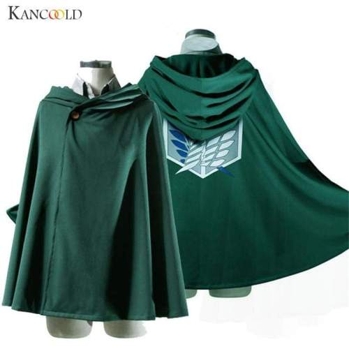 Green Shingeki No Kyojin Cloak Cape Unisex Coser Cloak Cartoon Costumes Cosplay Attack on Titan