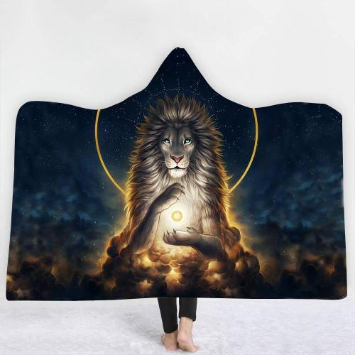 Limited Design: Brave Heart Spiritual Lion Hooded Blanket