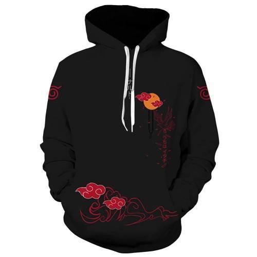 Unisex Uchiha Itachi Hoodies Naruto Pullover 3D Print Jacket Sweatshirt
