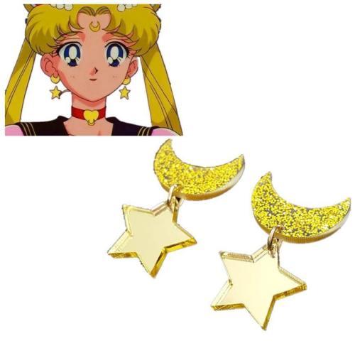 Anime Sailor Moon Cosplay Kawaii Star Moon Space Earrings Ear Clip