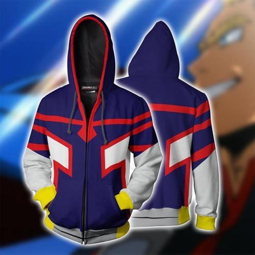 My Hero Academia Anime Cosplay Costume Sweatshirt Zip Up Hoodie C