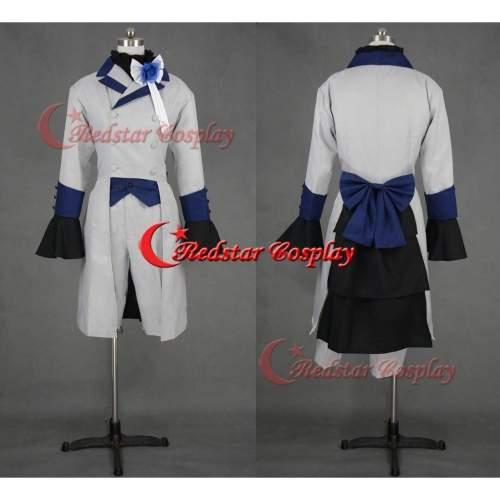 Black Butler 3 Ciel Phantomhive Grey Suit Cosplay Costume Unisex Any Size