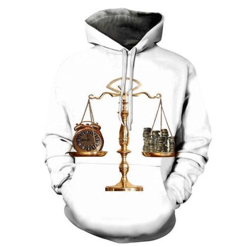 Time & Money Balance 3D - Sweatshirt, Hoodie, Pullover