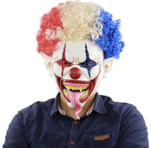 Joker Long Tongue Masks Afro Mask For Halloween Party