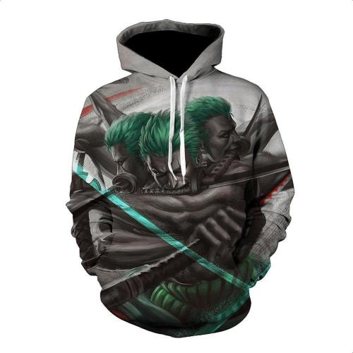 One Piece Hoodie - Zoro Pullover Hoodie Csso015