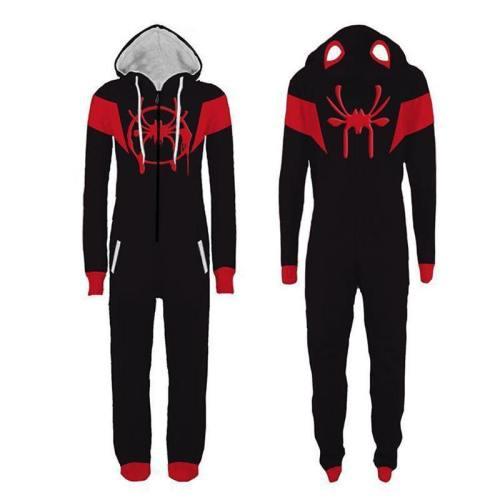 Spider Cosplay Adult Spider-Verse Costume Jumpsuit One Piece Pajamas