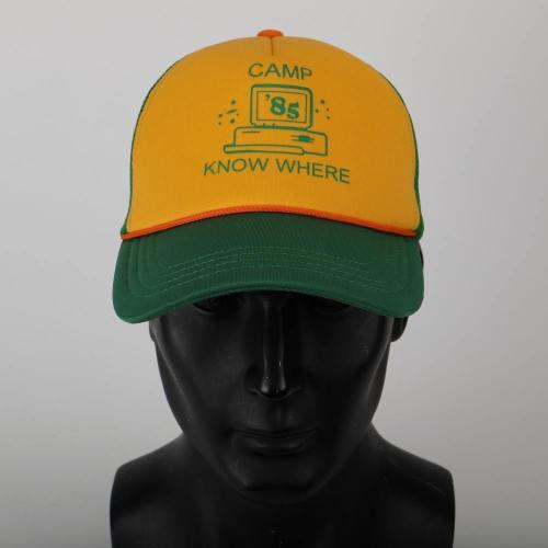 Stranger Things 3 Dustin Hat Retro Mesh Trucker Cap Yellow Green 85 Know Where Adjustable Cap Gifts Halloween