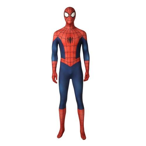 Ultimate Spider Man Season 1 Peter Parker Spiderman Costume Jumpsuit