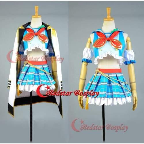 Love Live!Koizumi Hanayo Cosplay Costume School Idol Tomodachi Cosplay Navy Sailor Suit Cape