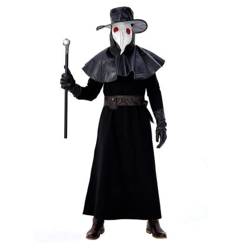 Men Medieval Plague Doctor Halloween Fancy Dress Costume