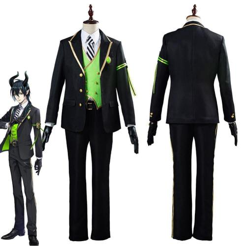 Game Twisted-Wonderland Malleus/Sebek/Silver Uniform Outfit Halloween Carnival Costume Cosplay Costume For Adult