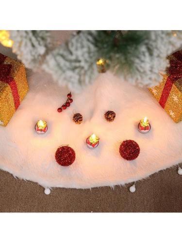 Christmas Tree Skirt Faux Fur White Tree Blanket