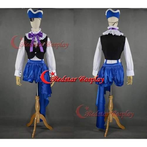 Book Of Circus Cosplay Black Butler Kuroshitsuji Ciel Cosplay Costume Dress (Stype 2)