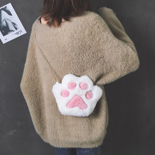 Small Fluffy Cat Paw Crossbody Bag