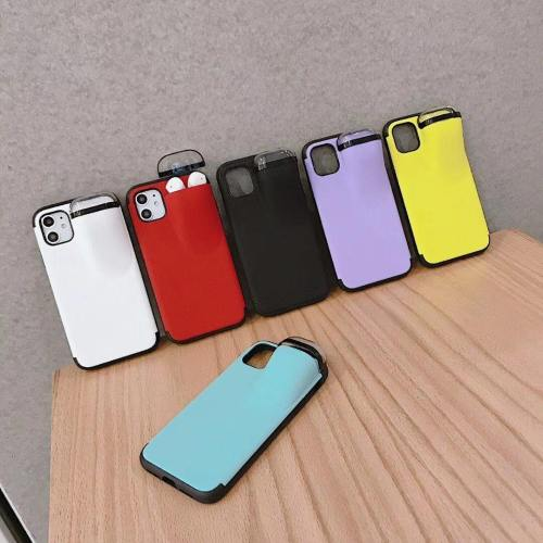 Trendy Phone Case With Airpods Protective Storage